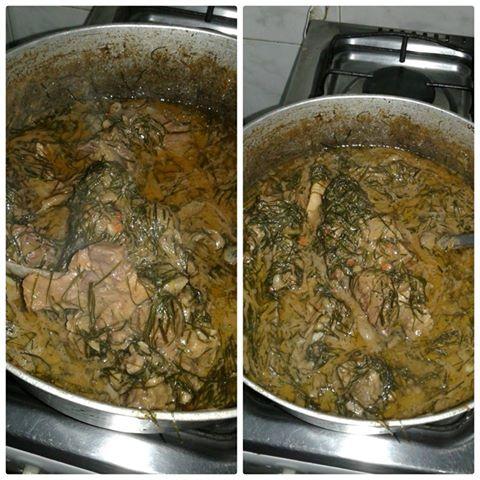 Viande la p te d 39 arachide et fumbwa la congolaise 242 - Cuisine congolaise brazza ...